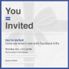 Facebook Sends Press Invitation for Its Gifts Service in NYC on Nov.1